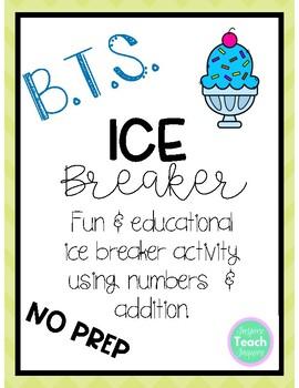 Back to School Ice Breaker Game *NO PREP* ADDITION SKILLS