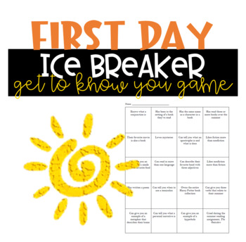 Back-to-School Ice Breaker Game for English Class (The Autograph Mingle Game)