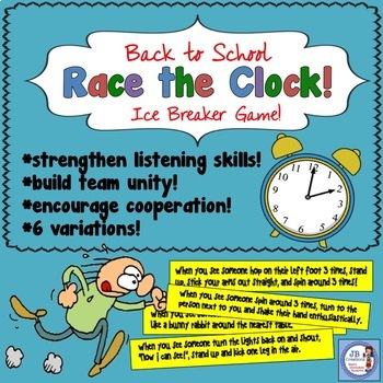 Back to School Ice Breaker Game:  Race the Clock!  (intermediate)