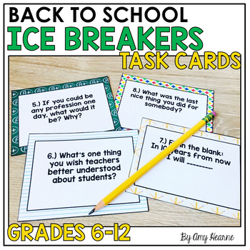 Back to School Task Cards: Ice Breaker Questions