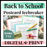 Back to School Ice Breakers Middle School High School English First Day Activity