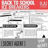Back to School Ice Breakers- Secret Agent Activities