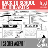 Back to School Ice Breakers- Secret Agent Activities