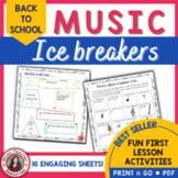 Music Back to School Activities: Ice Breakers for Music Classes
