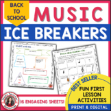 Music Distance Learning Back to School Ice Breakers