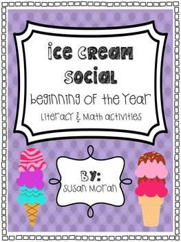 Back to School {Ice Cream Social!} - Literacy & Math Activities