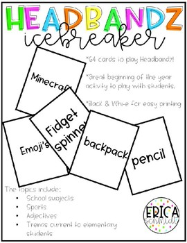 Back to School Icebreaker