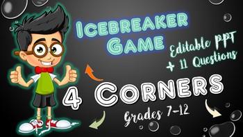 Back to School Icebreaker-4 Corners (Grades 7-12)
