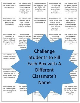 Free Icebreaker Activity for Secondary Students