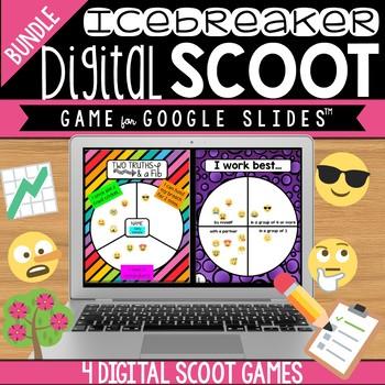 Back to School Icebreaker Digital Scoot Bundle for Google Slides