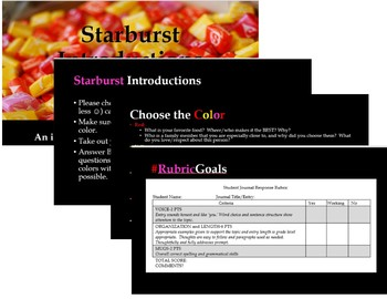Back to School Icebreaker-Starburst Introductions