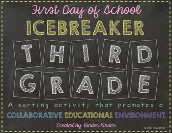 Back to School Icebreaker-Third Grade