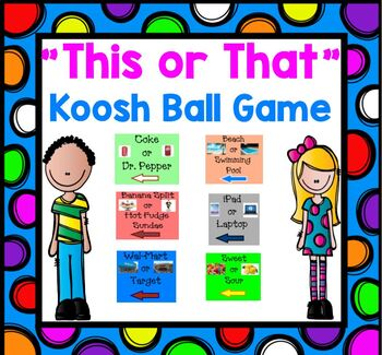 Back to School Icebreaker This or That Kooshball Get to Know You Game  FUN!