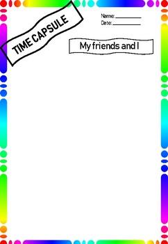 Back to School - Icebreaker - Time Capsule - Rainbow Themed