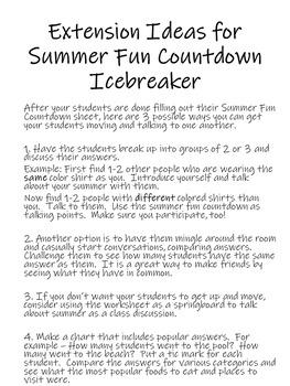 Back to School Icebreaker Worksheet (EDITABLE)