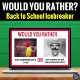 Back to School Icebreaker - Would You Rather Activity