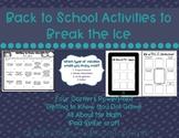 Back to School Icebreakers