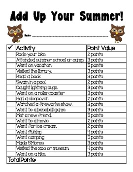 Back to School Icebreakers - Owl Themed - First Day of School
