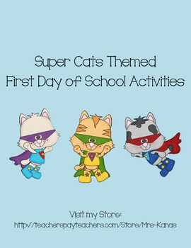 Back to School Icebreakers - Super Cat Themed - First Day of School
