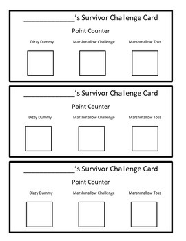 Back to School Icebreakers and Team Building Survivor Themed Game