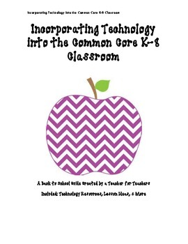 Back to School Ideas for Common Core Tech Integration