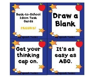 Back-to-School Idiom Task Card FREEBIE!