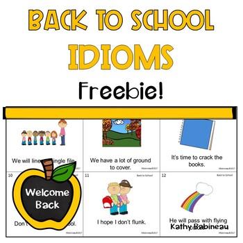 Back to School Idioms Freebie