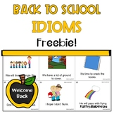 Back to School Idioms Freebie