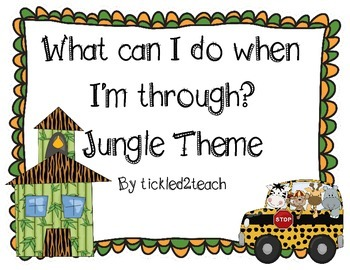 "Back to School ""I'm Done, Now What? Posters Jungle Theme"