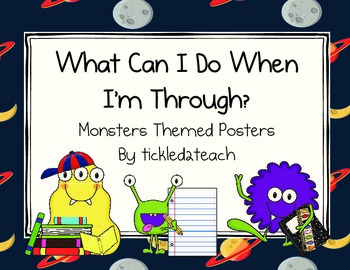 """Back to School """"I'm Done, Now What? Posters Monsters"""