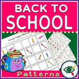 Back to School Image Patterns Printable Distance Learning