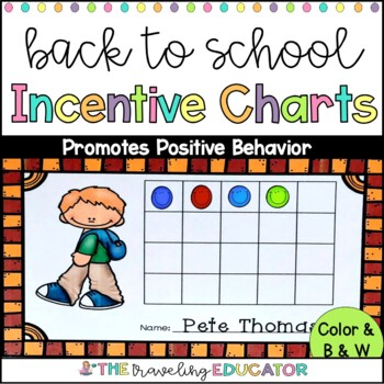Back to School Incentive Charts