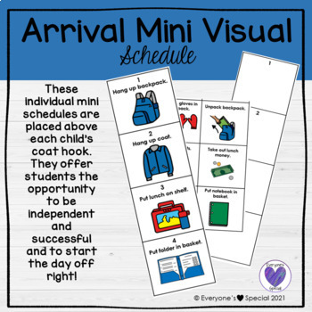 Boardmaker-Back to School-Individual Arrival Schedule