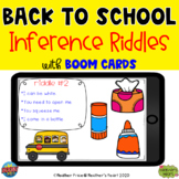 Back to School Inference Riddles with Boom Cards