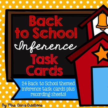 Back to School Inference Task Cards