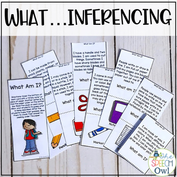 Back to School Inferencing (school supplies and locations) FREEBIE