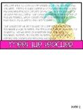 Back to School Info Flip Book - Tropical - EDITABLE