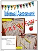 Back to School Informal Assessment for Multiplication and
