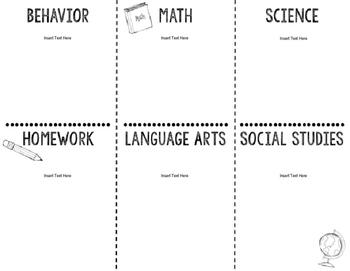 Back to School Information Brochure EDITABLE
