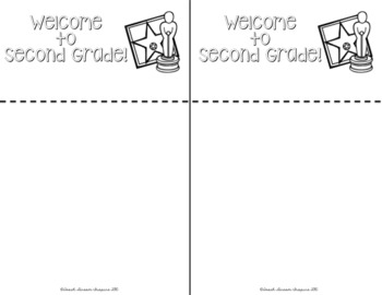 Back to School Information Editable Flip Book for Parents {Hollywood Theme}