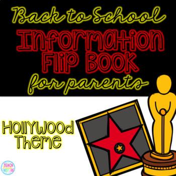 Back to School Information Editable Flip Book for Parents