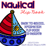 Back to School Information Editable Flip Book for Parents {Nautical Theme}