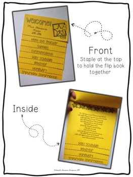 Back to School Information Editable Flip Book for Parents {Travel Theme}