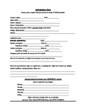 Back to School Information Form