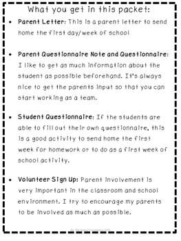 Back to School Information Pack 2016-2017