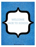 Back to School Information Packet
