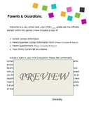 Back to School Information Packet - Special Education