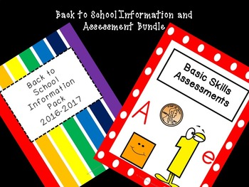 Back to School Information and Assessment Bundle