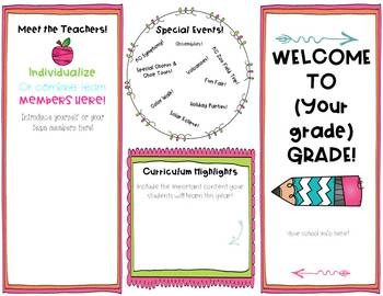 Back to School Informational Brochure - Editable