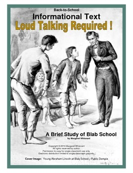 Informational Text  (Back to School):  Loud Talking Required!